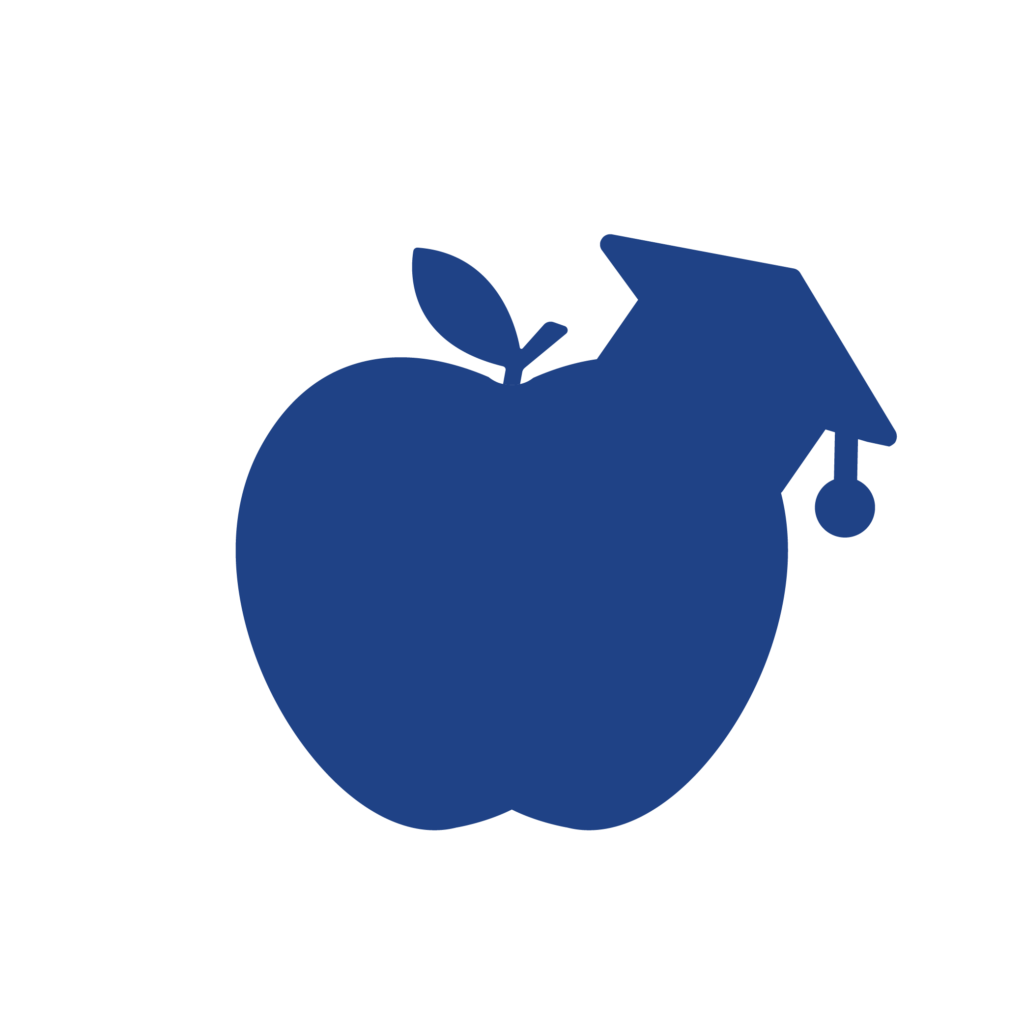 apple wearing mortarboard tute courses icon